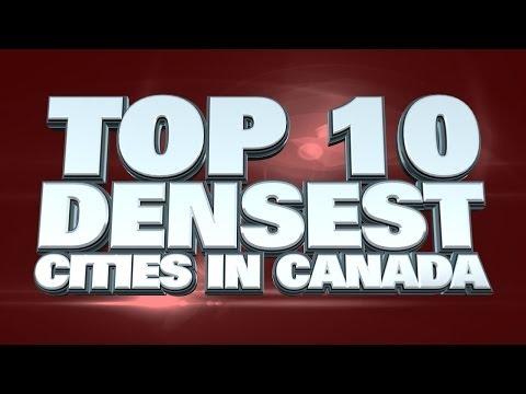 10 densest cities in Canada 2014