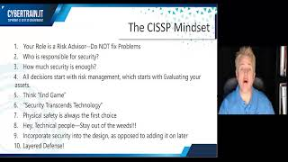 Why you WILL pass the CISSP - CyberTrain.IT 10-min Series