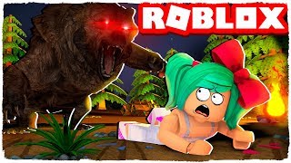 We're being attacked by a bear at Roblox in the Wild West!
