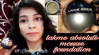 Lakme absolute mousse foundation Ivory fair 01 Review with demo Be gorgeous with nidhi