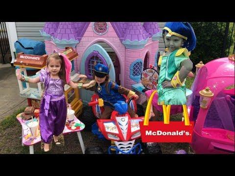 Shimmer and Shine Disney Princess Carriage Castle McDonalds Free Food Drive Thru