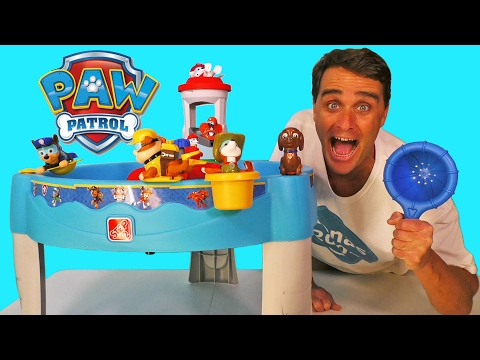 Paw Patrol Water Table And Bath Paddlin Pups ! || Toy Reviews || Konas2002