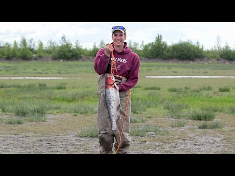 How to catch a king salmon at Ship Creek in downtown Anchorage, Alaska