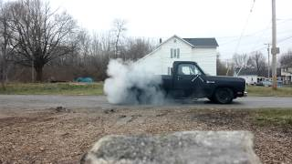 1983 Dodge d150 (GODZILLA) BURNOUT
