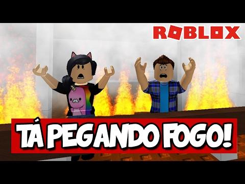 O HOTEL TÁ PEGANDO FOGO! - Roblox (Escape the Hotel)