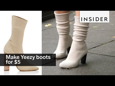 You can make $900 Yeezy boots for $5