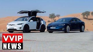 Dubai Crown Prince Driving The Tesla Model X l VVIP