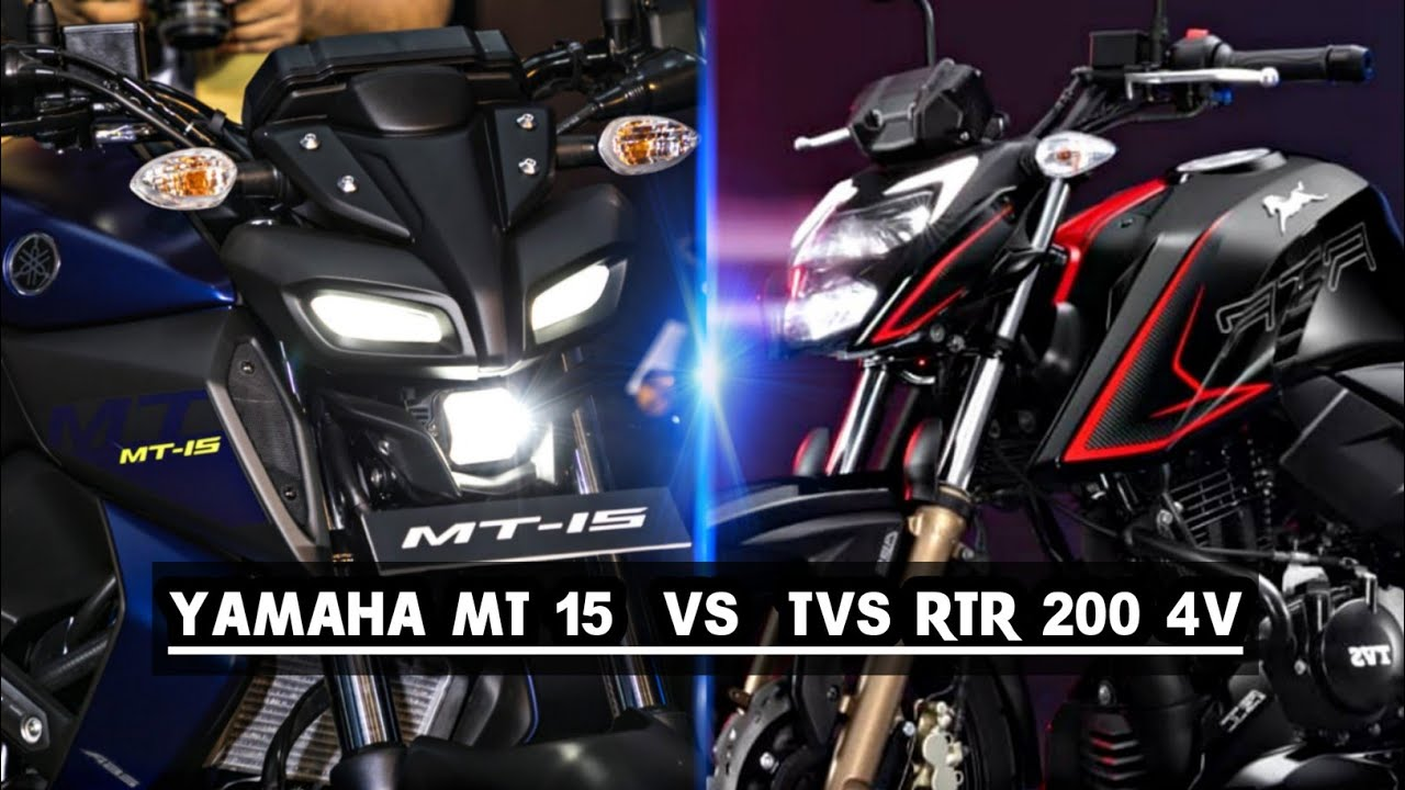 Download Apache RTR 200 4V vs YAMAHA MT-15 | Which One is Better ? Detailed Comparison | K2K Motovlogs