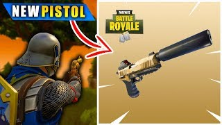 Fortnite: SILENCED PISTOL GAMEPLAY (Fortnite Battle Royale)