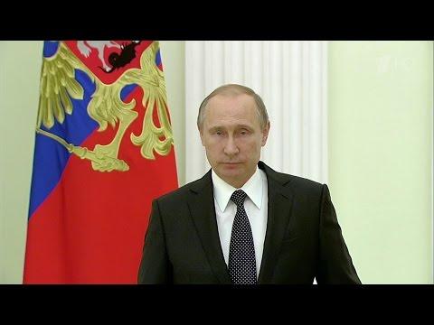 Владимир Путин выступил с телеобращением к народу и президенту Франции.