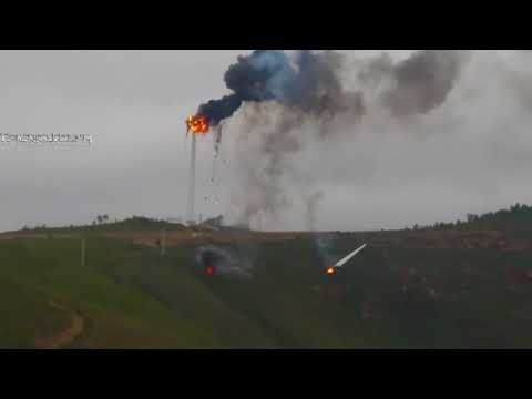 Wind Turbine Blade Caught on Fire and Fell off, Portela Portugal