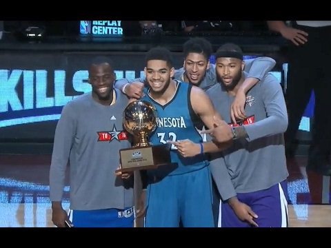 NBA Big Men Win Skills Challenge in Back-to-Back Years! | 02.18.17