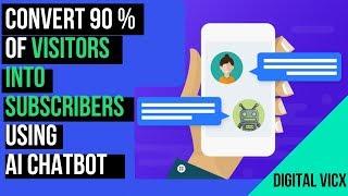 Comment Créer l'IA Chat Bot Pour Votre Site web   Collecter des Leads 24*7