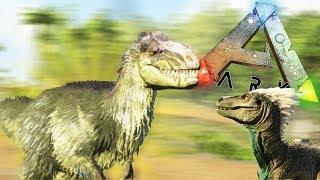 ЮТИРАННУС УСТРОИЛ БИТВУ С ДИНОЗАВРАМИ, ДИНО МОД   Ark Survival Play As Dino