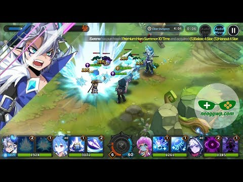 GrandChase (Android IOS APK) - Role Playing Gameplay, Chapter 1 And Summon X 10