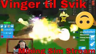 Mining Sim med Agentproboy - Roblox Stream