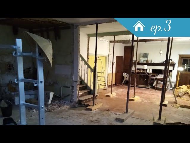 Fin des murs et de l'amiante en timelapse - Rénovation Ep3