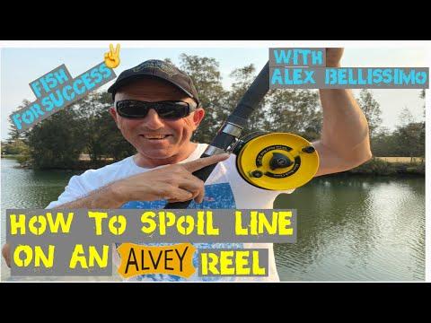 How To Spool Line On Alvey Reel