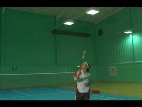 Badminton Techniques Backhand clear