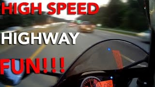 HIGHSPEED HIGHWAY FUN | GSXR750 + FZ1 + CBR1000RR