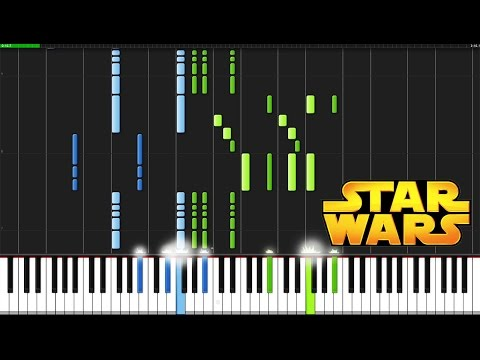 Star Wars Main Theme - Star Wars [Piano Tutorial] (Synthesia)
