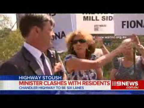 Residents angry with handling of Chandler Highway widening by Victorian Labor