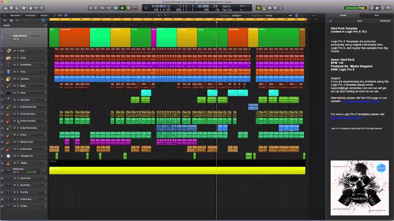 Hard rock logic pro x template youtube hard rock logic pro x template maxwellsz