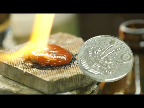 Making Australia's first 9 cent coin