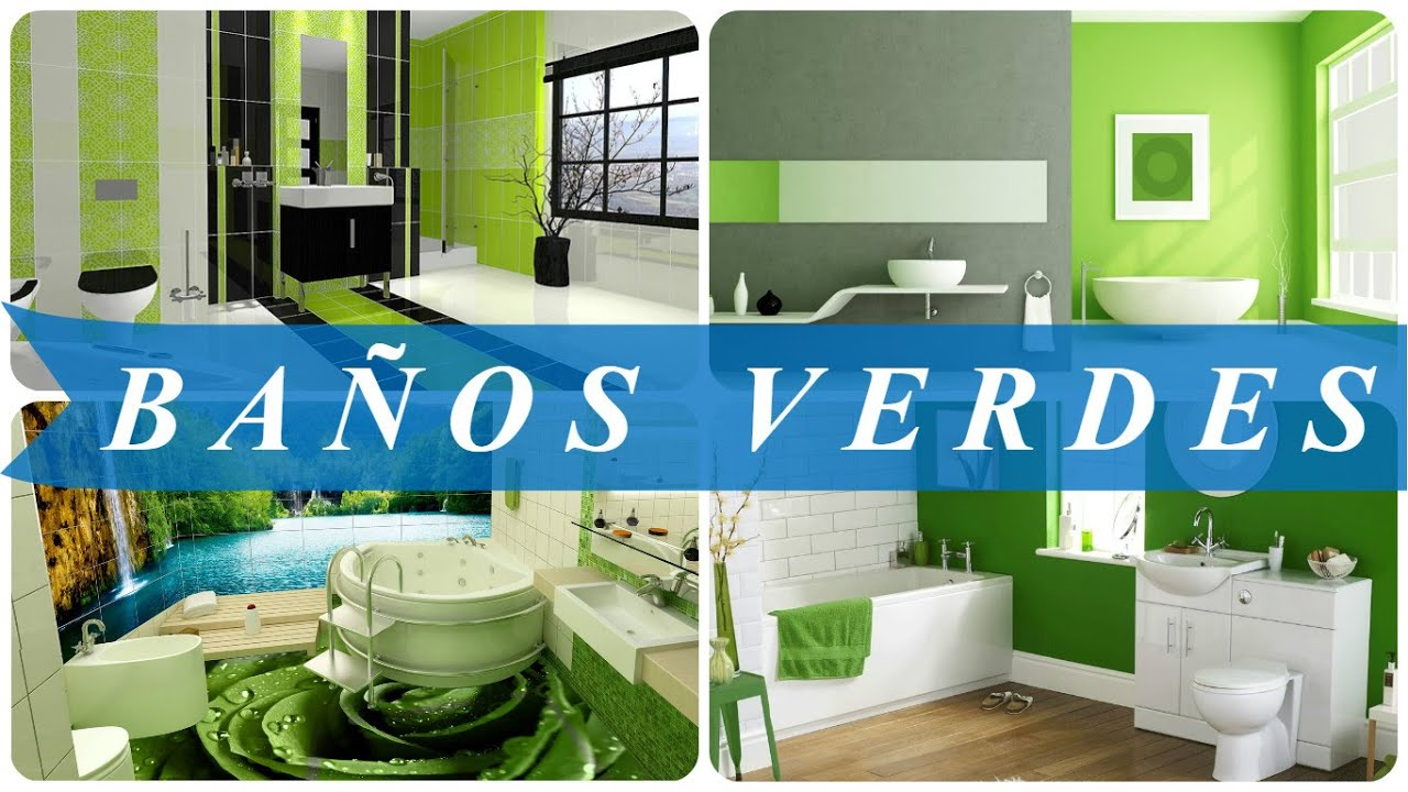 Ba os verdes youtube for Ideas para pisos pequenos fotos