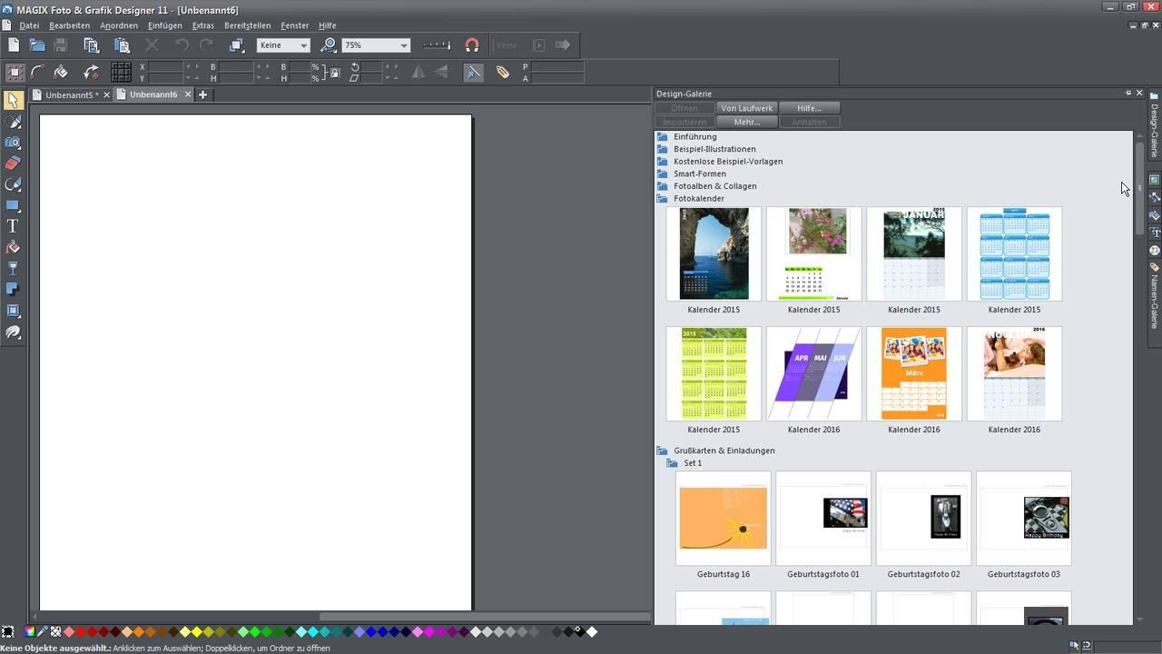MAGIX Foto & Grafik Designer (11) – Vorlagen Tutorial (DE) - YouTube