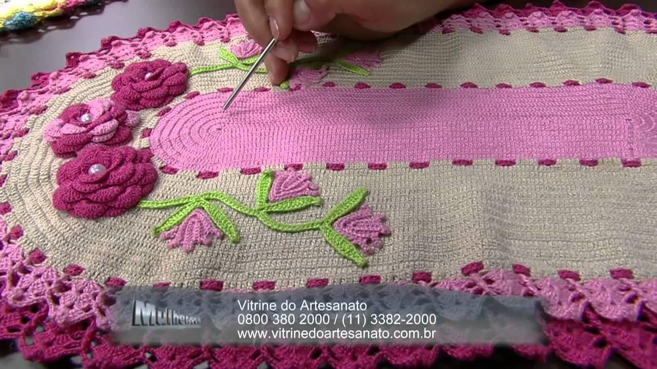 Mulher.com 03/07/2014 - Jogo Americano Croche Vitrine por Maria Jose - Parte 2
