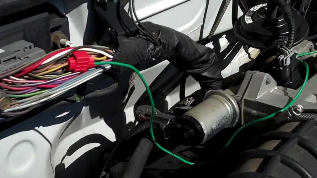 2002 ford explorer wiring diagram 2000 jeep cherokee radio ranger engine bay pcm - youtube