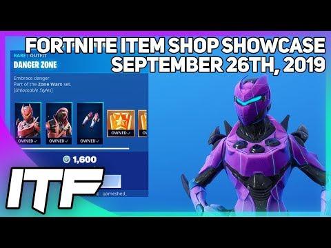 Fortnite Item Shop UPDATE *NEW* ZONE WARS BUNDLE! [September 26th, 2019] (Fortnite Battle Royale)