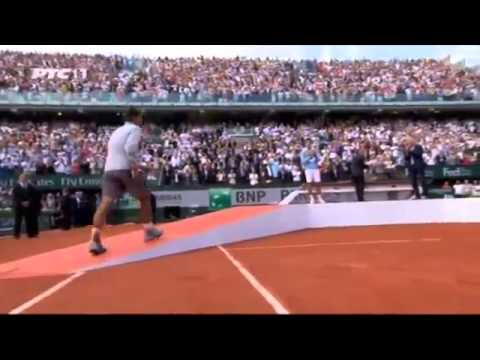Novak Djokovic and Rafael Nadal crying after Roland Garros Final 2014 1