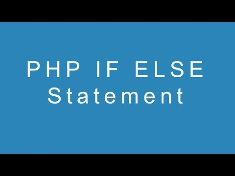 PHP If Else Statement thumbnail
