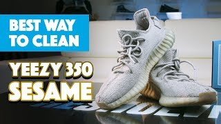 d1fac77f4 The Best Way To Clean Yeezy 350 Sesame With Reshoevn8r!