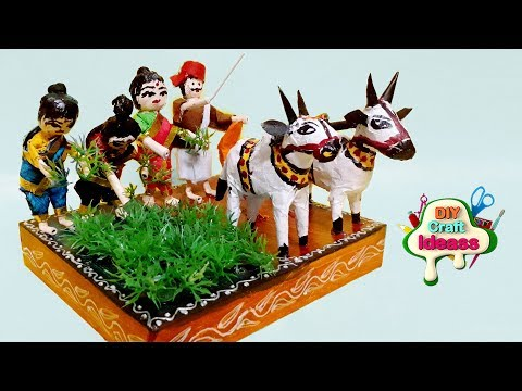 Village Agriculture Best Out Of Waste   School Project Craft   Craft Idea   From Arush Diy Crafts