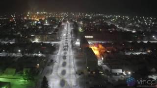 Светодиодное освещение улиц в пгт. Ува, Удмуртская Республика(Ночное видео, снято на квадрокоптер DJI Inspire pro с камерой X5 Проект компании