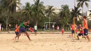 Barcelona fc beach soccer training in rio de janeiro