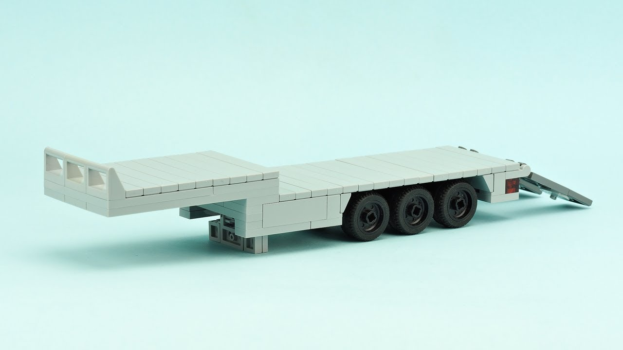 LEGO Low Bed Semi-Trailer  MOC Building Instructions