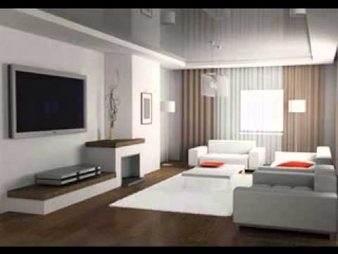 Modern minimalist living room interior design youtube for Modern minimalist living room