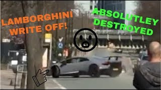 Lamborghini Huracan Peformante, less than 1 year old, crashes after...