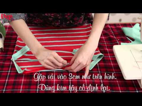 DIY: Tự may váy đôi rất xinh mùa hè cho mẹ và bé gái.