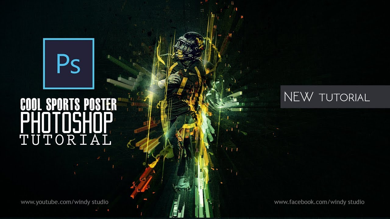 adobe photoshop tutorial l cool sports poster design youtube