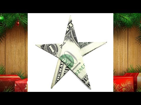 Origami Dollar Bill Star tutorial (John Montroll) 折り紙 星 ヒトデ $1 dollar estrella billete