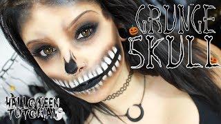💀 Grunge Skull    Last Minute Halloween Tutorial 🎃