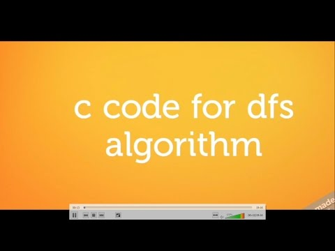 DEPTH FIRST SEARCH  ALGORITHM execution in c