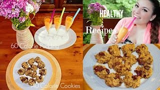 Healthy Low Calorie Cookies & Creamsicle Pudding