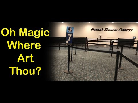 How to Find Disney's Magical Express from any Gate at Orlando International Airport - 2018