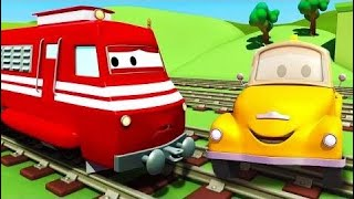 Took The Crane And Troy The Train In Auto City | Cartoon For Children